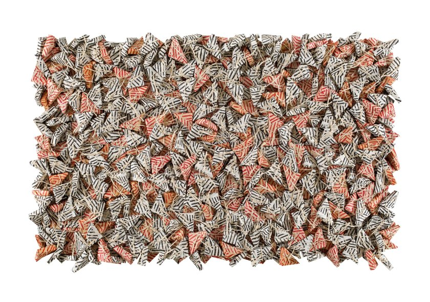 12. Chun Kwang Young b. 1944, Aggregation 94-AU018, 1994, Mixed media with Korean Mulberry paper, 120 x 180 cm