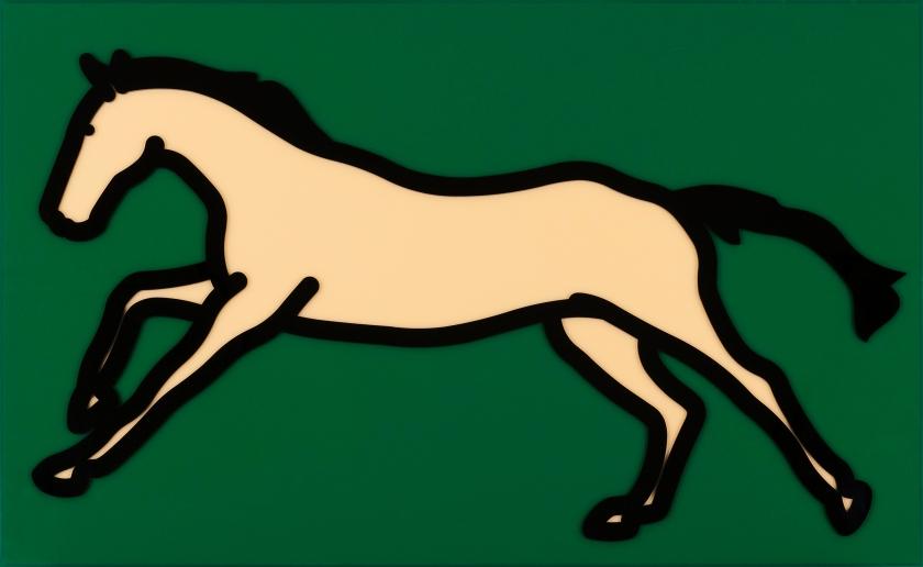 Galloping Horse 2 3:35 by Julian Opie, Acrylic panel , 61.3 x 100.0 x 3.9, 2013