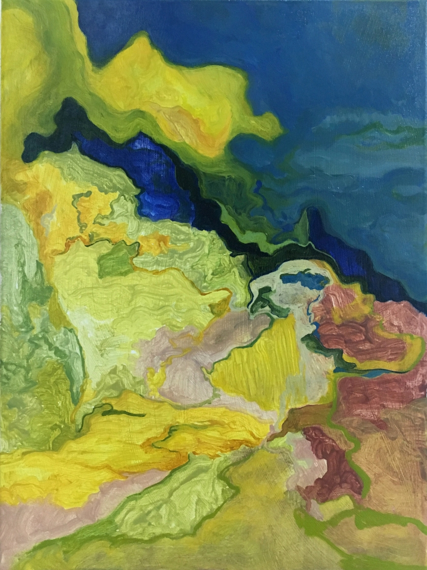 There's such a lot of world to see, 2018 Feb, 40 x 30 x 1.5 cm, Oil on canvas, $2000