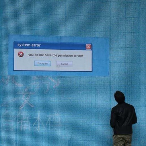 Unknown artist, you do not have the permission to vote, Image Courtesy of HKwalls